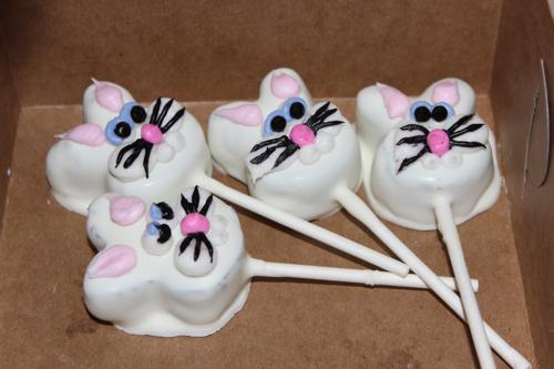 Bunny Head Cake Pops
