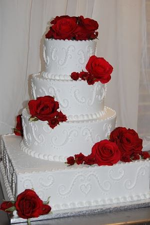 Christmas Wedding Cake 5