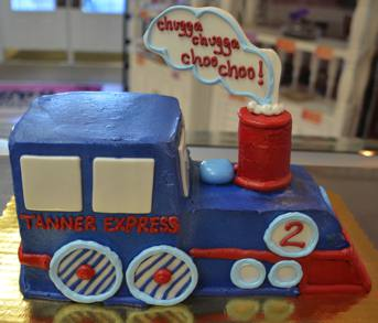Train Cake - with fondant accents