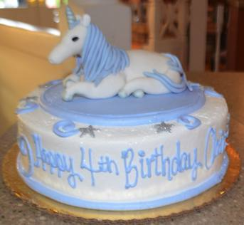 Unicorn Cake - with hand-made fondant unicorn