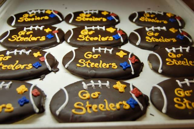 Superbowl Decorated Football Cookies