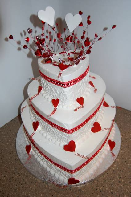 Heart-shaped Tier Cake