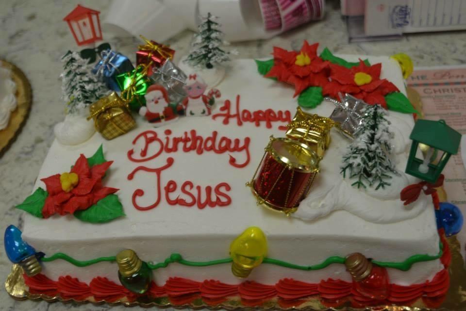Groovy Happy Birthday Jesus Cake 1 4 Sheet The Pennsylvania Bakery Personalised Birthday Cards Rectzonderlifede