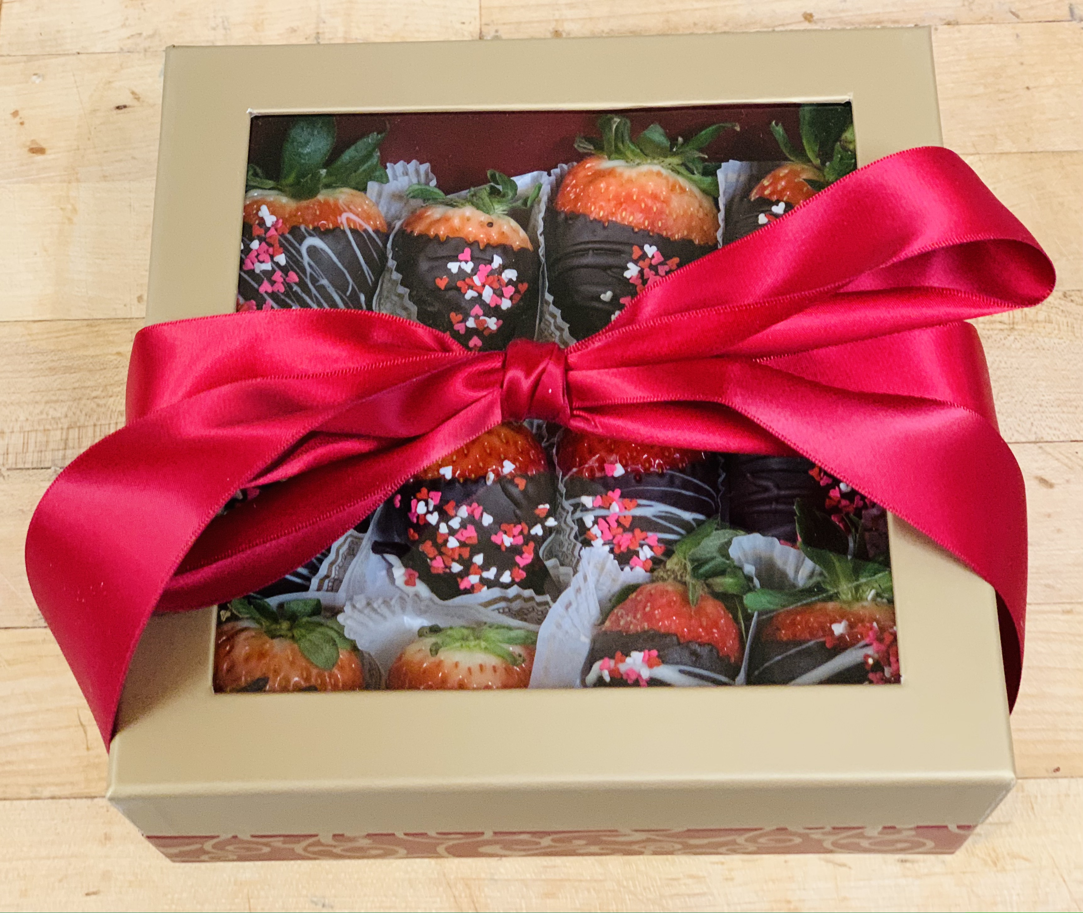 Chocolate Covered Strawberry Gift Box The Pennsylvania Bakery
